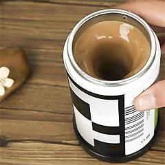 1kpl kalvon muotoinen itse sekoittaen kahvikupin kaksoiseristettyjä kahvikupin 400 ml automaattinen kahvinkeitin kupit älykäs kahvikupin