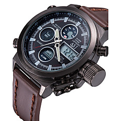 ASJ Męskie Sportowy Zegarek cyfrowy Japoński Cyfrowe Kwarc japońskiLCD Pilot Kalendarz Chronograf Wodoszczelny Dwie strefy czasowe