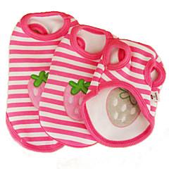 Cat Dog Shirt / T-Shirt Dog Clothes Cosplay Wedding Stripe Fruit Blushing Pink