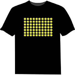 LED-t-shirts 100% Bomull 2 AAA Batterier