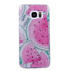 Voor samsung galaxy s8 s8 plus geval cove watermeloen patroon flash poeder imd proces tpu materiaal telefoon hoesje s7 s6 rand