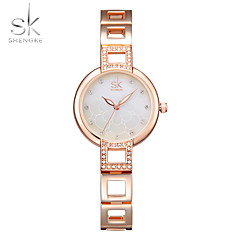 SK Damskie Modny Zegarek na bransoletce Unikalne Kreatywne Watch Sztuczny Diamant Zegarek Chiński KwarcowyWodoszczelny Odporny na