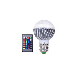 1pcs 3W E27 RGB LED Bulb Color Changeable RGB LED Lamp With IR Remote Control for Home and KTV AC85-265V