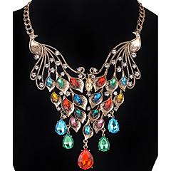 Dames Meisjes Hangertjes ketting Kettingen Bergkristal imitatie Diamond Dierenvorm Vogel StrassBasisontwerp Uniek ontwerp Hangende stijl