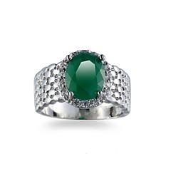 Herre Ring Smaragd Unikt design Euro-Amerikansk Mode Smaragd Legering Smykker Smykker Til Bryllup Speciel Lejlighed