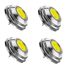 2W G4 Faretti LED 1 COB 180 lm Bianco caldo / Luce fredda / Bianco Intensità regolabile DC 12 V 4 pezzi