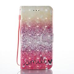 Til iphone 7 plus 7 3d effekt rød ørken mønster pu materiale tegnebogen sektion telefon sag 6 plus 6s 5 se