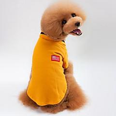 Kat Hund T-shirt Sweatshirt Hundetøj Afslappet/Hverdag Solid Grå Gul Grøn