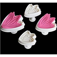 4szt / Set Forma do pieczenia Ciasteczka Tort Tworzywa sztuczne Kreatywny gadżet kuchenny Narzędzie do pieczenia