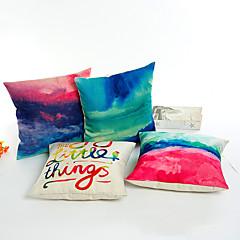 1 szt Bielizna Poszewka na poduszkę,Kwiatowy Nowość Toile Wzory graficzne Słowa i cytaty Modern / Contemporary Przypadkowy
