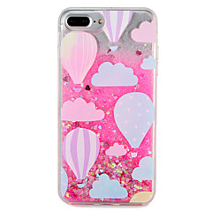 Etui til apple iphone 7 7 plus ballon glitter skinne mønster flydende flydende hard pc 6s plus 6 plus 6s 6