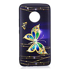 Do moto g5 plus g5 obudowa pokrywa motyl deseń malowane tłoczone feel tpu miękka skrzynka telefonu