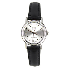 Casio Mujer Reloj Deportivo Reloj de Moda Reloj de Pulsera Japonés Cuarzo Resistente al Agua Piel Banda Encanto Casual Elegantes Negro