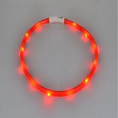 Kaulapannat LED valot Ladattava Strobe Yhtenäinen Silikoni