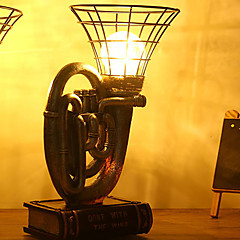 1PC Retro Saving Lovers  Artware Mirror Barn Lantern LED Night Lamp