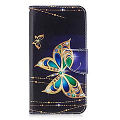 Huawei p10 P9 lite burkolata pillangó mintás PU anyagból kártya stent pénztárca telefon esetében galaxis 6x y5ii P8 lite (2017)