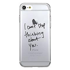 Voor iPhone X iPhone 8 Hoesje cover Patroon Achterkantje hoesje Woord / tekst Zacht TPU voor Apple iPhone X iPhone 7s Plus iPhone 8