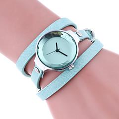 Women's Quartz Colorful Leather Band Casual Bracelet Watch