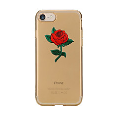Para iPhone X iPhone 8 Case Tampa Transparente Estampada Capa Traseira Capinha Flor Macia PUT para Apple iPhone X iPhone 8 Plus iPhone 8