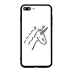 For Case Cover Pattern Back Cover Case Cartoon Unicorn Hard Acrylic for iPhone 7 Plus 7 6s Plus 6 Plus 6s 6 5s SE 5
