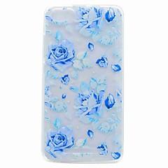 Για wiko lenny 3 lenny 2 περίπτωση κάλυμμα ημιδιαφανές μοτίβο πίσω κάλυψη περίπτωση μπλε τριαντάφυλλο μαλακή θήκη tpu για wiko jerry u