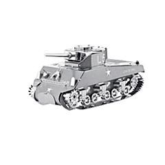 Legpuzzels 3D-puzzels Bouw blokken DHZ-speelgoed Tank Roestvrij Staal