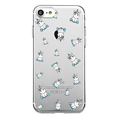 Voor iphone 7 plus 7 case cover transparant patroon achterkant geval tegel eenhoorn soft tpu voor iphone 6s plus 6s 6 plus 6 5s 5 se