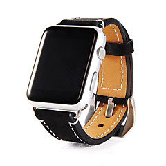 Zegarek na zegarek jabłkowy series1 2 prawdziwy skórzany klasyczny pasek 38mm 42mm