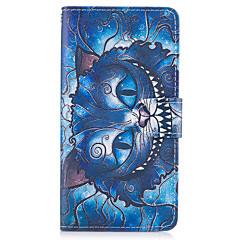 Til samsung galaxy s8 plus s7 kanten dække det blå kat mønster pu læder tasker til s6 kant plus s5 mini s4 s3