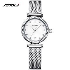 SINOBI Damskie Ladies ' Do sukni/garnituru Modny Zegarek na bransoletce Unikalne Kreatywne Watch Sztuczny Diamant Zegarek Chiński Kwarcowy