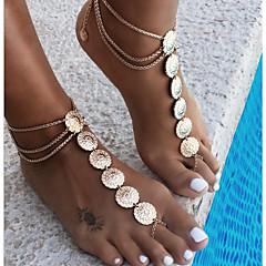 Kadın's Vücut Mücevheri Bacak Zincirleri Eski Tip kostüm takısı alaşım Round Shape Mücevher Uyumluluk Günlük