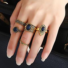 Dames Bandringen Ring manchet Ring Cirkelvormig ontwerp Modieus Vintage Punk-stijl Hip-hop Euramerican Doe-het-zelf Klassiek Kostuum