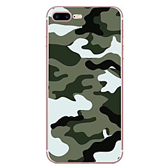 Tilfældet til Apple iPhone 7 7 plus case cover camouflage mønster hd malet tpu materiale blødt case telefon etui til iPhone 6s 6 plus