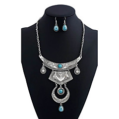 Women's Earrings Set Pendants Statement Necklaces Dangling Style Turkish Euramerican BohemianMaterial Crystal Rhinestone Shiny Metallic