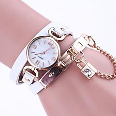 Damskie Zegarek na bransoletce Chiński Kwarcowy Skóra Pasmo Elegancki Czarny Biały Niebieski Czerwony Brązowy Szary Różowy Rose