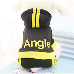Kot Pies Płaszcze Bluzy z kapturem Kombinezon Spodnie Ubrania dla psów Codzienne Zatrzymujący ciepło Sportowe Litera i numer Black Fuchsia