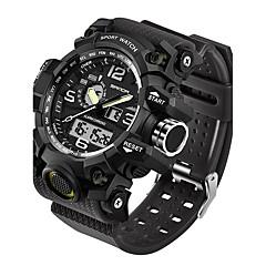 SANDA Erkek Spor Saat Asker Saat Akıllı Saat Moda Saat Bilek Saati Japonca DijitalLED Çift Zaman Bölmeli Fitness Takip Cihazı Gece