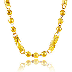 Erkek Kadın's Zincir Kolyeler Round Shape Geometric Shape Top Altın Kaplama Dairesel Tasarım Eşsiz Tasarım Eski Tip kostüm takısı Mücevher