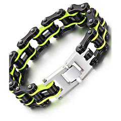 Heren Armbanden met ketting en sluiting Modieus PERSGepersonaliseerd Hip-hop Rock Roestvast staal Geometrische vorm Fietsen Sieraden Voor