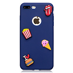 Voor apple iphone 7 7 plus case cover ijs patroon fruit kleur tpu materiaal diy telefoon hoesje 6s 6 plus 5s 5