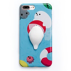 Voor Hoesje cover Patroon DHZ squishy Achterkantje hoesje Cartoon Zacht TPU voor AppleiPhone 7 Plus iPhone 7 iPhone 6 Plus iPhone 6s
