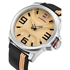 Watches Men NAVIFORCE Brand Sports Watches Clock Men Waterproof Silicone Rubber Strap Quartz Watch Students Fashion Casual Wristwatch