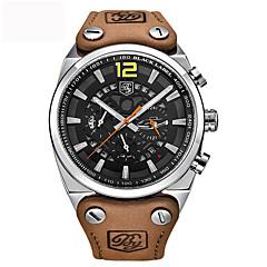Homens Relógio Esportivo Relógio Militar Relógio de Moda Único Criativo relógio Relógio Casual Chinês Quartzo Calendário ImpermeávelCouro