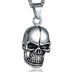 Halskædevedhæng Dødningehoved Titanium Stål Mode Personaliseret Sølv Smykker For Afslappet Julegaver