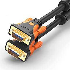 VGA Cabo, VGA to VGA Cabo Macho-Macho Cobre banhado a ouro 1.0m (3 pés)