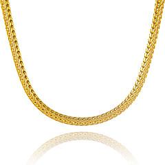Męskie Damskie Łańcuszki na szyję Geometric Shape Wąż Pozłacane Unikalny biżuteria kostiumowa euroamerykańskiej Wyrazista biżuteria