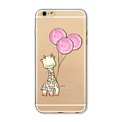 Etui til iphone 7 plus 7 cover gennemsigtigt mønster bagcover cover tegneserie hjorte ballon soft tpu til iphone 6s plus 6 plus 6s 6 se 5s