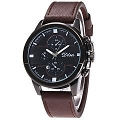 Hombre Reloj Deportivo Reloj Militar Reloj de Moda Reloj de Pulsera Reloj creativo único Reloj Casual Cuarzo Calendario Piel BandaDe Lujo