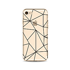 Hoesje voor iphone 7 plus 7 hoesje transparant patroon achterhoes hoesje geometrisch patroon zachte tpu voor iphone 6s plus 6 plus 6s 6 se
