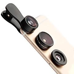 Lieqi f-516 lencse lencsék halogén lencse széles látószögű lencsék makró lencse alumínium 10x mobiltelefon lencse készlet a samsung